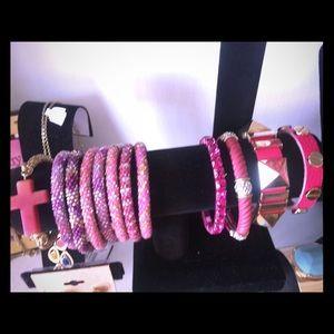 Jewelry - Beaded pink bracelets